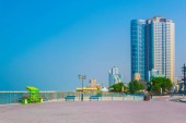 Hotels stretched alongside beach in the smallest of the United Arab Emirates - Ajman.