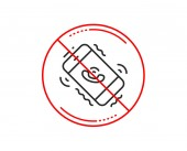 No or stop sign Call center service line icon
