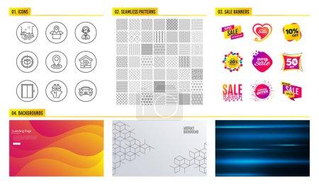 Seamless pattern Shopping mall banners