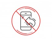 No or stop sign Call center service line icon Incoming phone call sign Feedback symbol Caution prohibited ban stop symbol No  icon design  Vector