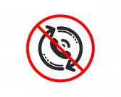 Call center service icon Recall support sign Vector