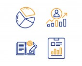 Career ladder Engineering documentation and Pie chart icons set