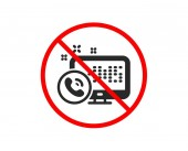 Web call center service icon Phone support sign Vector