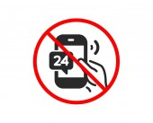 24 hour service icon Call support sign Vector