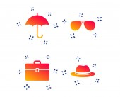 Umbrella sunglasses and hat with case Vector