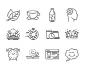 Set of Business icons such as Seo timer Engineering Sports arena Vector