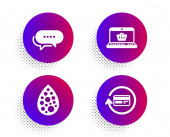 Online shopping Dots message and Artificial colors icons set Refund commission sign Vector
