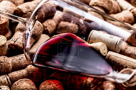 Photo for Wine corks background, close up - Royalty Free Image