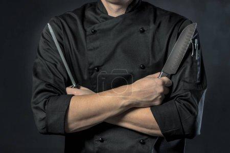 male Chef in restaurant kitchen