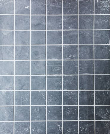 Photo for Grey tiled wall texture background - Royalty Free Image