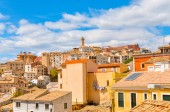 Landscape of the city of Cuenca, Spain. Views of the buildings of the city.