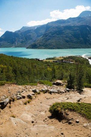 Photo for Besseggen ridge over Gjende lake in Jotunheimen National Park, Norway - Royalty Free Image