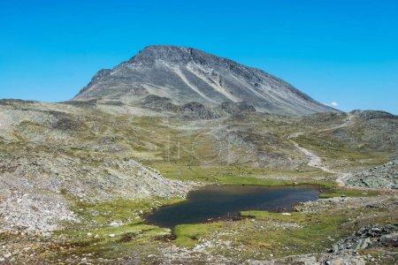 Besseggen ridge with little lake in Jotunheimen National Park, Norway