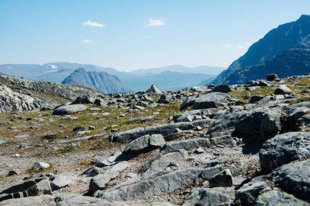 Photo pour Belle crête Besseggen à Parc National de Jotunheimen, Norvège - image libre de droit