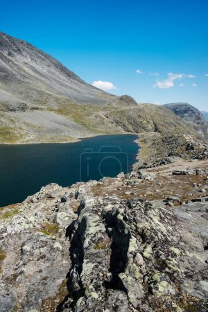 beautiful Gjende lake, Besseggen ridge, Jotunheimen National Park, Norway