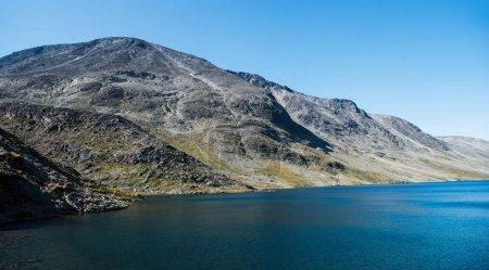 Photo pour Beautiful Gjende lake, Besseggen ridge, Jotunheimen National Park, Norway - image libre de droit
