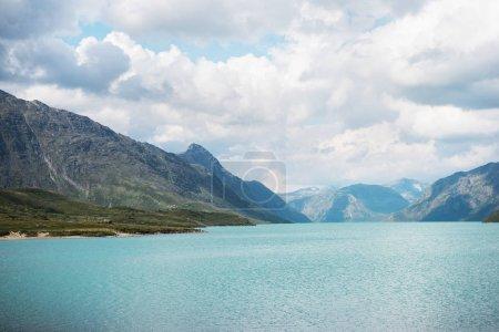 magnificent landscape with Gjende lake, Besseggen ridge, Jotunheimen National Park, Norway