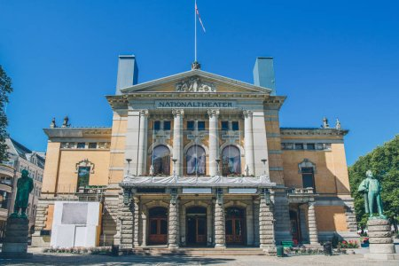 Photo for Beautiful architecture of national theatre in oslo, norway - Royalty Free Image