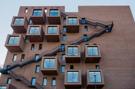 Photo for Low angle view of modern architecture against sky at Barcode district, Oslo - Royalty Free Image