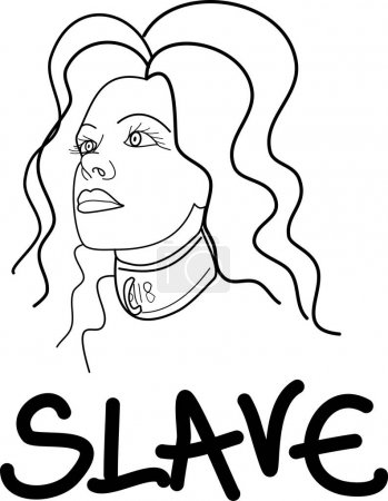 Slave girl pin-up vector