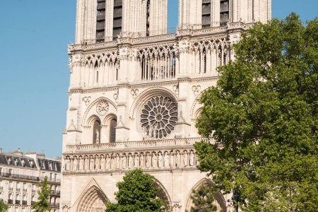 Photo for Notre Dame Cathedral in Paris. France. Main Facade. - Royalty Free Image