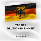 German october unity day concept background isometric style