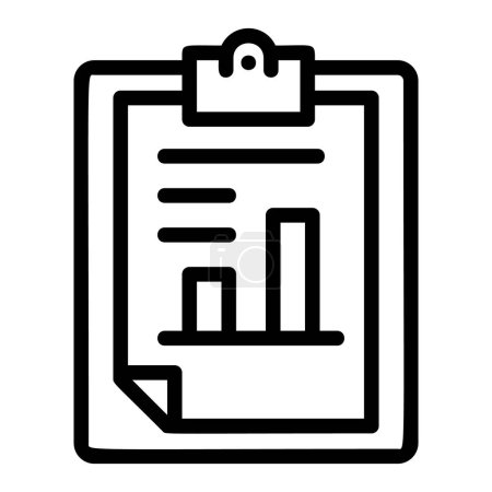 Finance paper graph icon, outline style