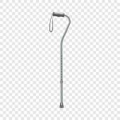 Walking stick icon realistic style
