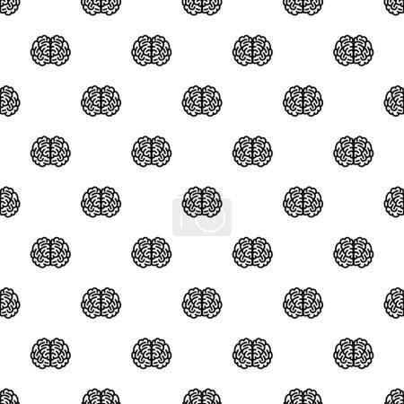 Front side brain pattern seamless repeat backgroun...