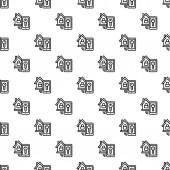 Smart house lock pattern seamless