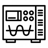 Electric modulator device icon outline style