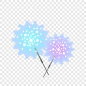 Bengal light stick icon flat style