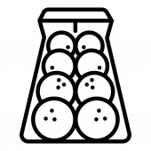 Bowling balls icon outline style