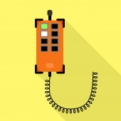 Control lift device icon flat style