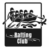 Rafting club logo simple style