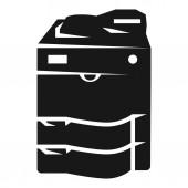 Copy machine icon simple style
