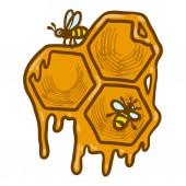 Honeycomb icon hand drawn style