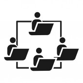 People work cohesion icon simple style