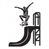Skater trick icon simple style
