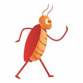 Cockroach kitchen icon cartoon style