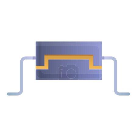 Business-Kondensator-Ikone im Cartoon-Stil