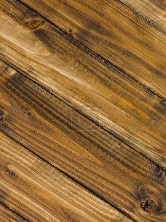 Photo pour Modèle de menuiserie avec planches en bois marron - image libre de droit