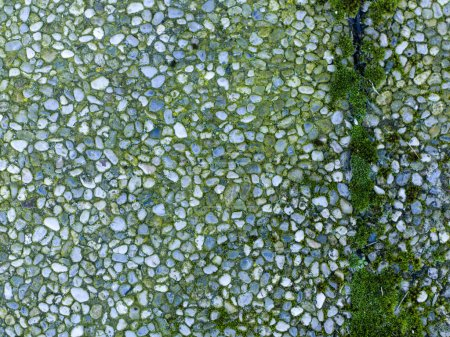 Photo for Abstract grey rough concrete wall from stones - Royalty Free Image