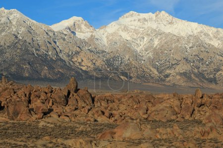 Panoramic landscape in the Eastern Sierra Mountains, California, USA.