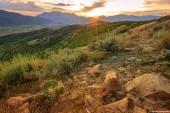 "Постер, картина, фотообои ""Осень Wasatch горы Панорама, штат Юта, США"""