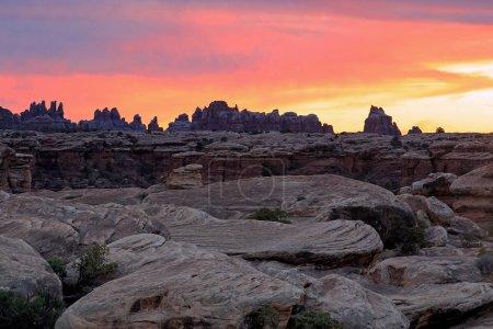 Desert sunrise in Monument Valley, USA.