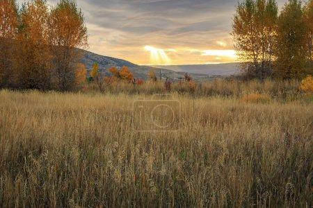 Photo for Heber Valley sunset panorama, Utah, USA. - Royalty Free Image