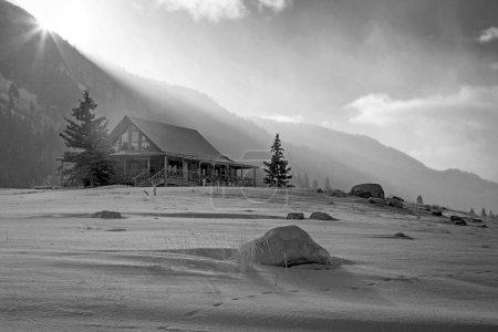 barn in rural Utah, USA. Black and white