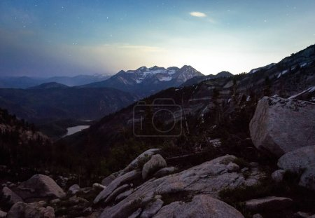 Lone Peak Wilderness sunrise panorama, Utah, USA