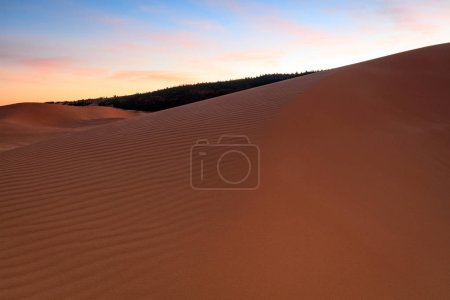 amazing sand dunes in desert , nature background